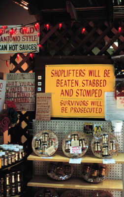 Shoplifters will be beaten, stabbed and stomped. Survivors will be prosecuted