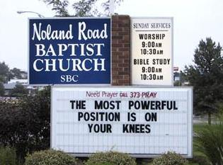At last a church sign I can agree with