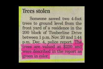 Trees stolen