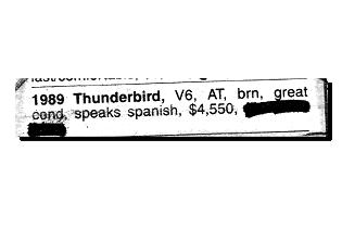 1989 Thunderbird
