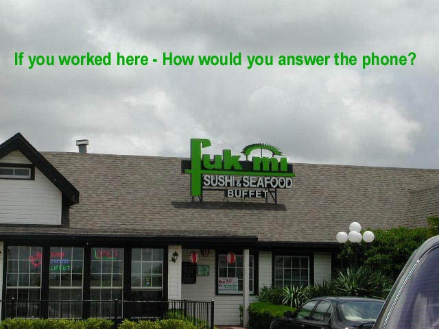 If you worked here how would you answer the phone