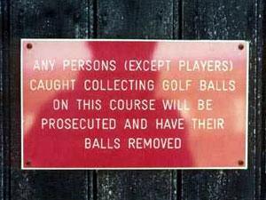 Hmm, better keep an eye on your golf balls
